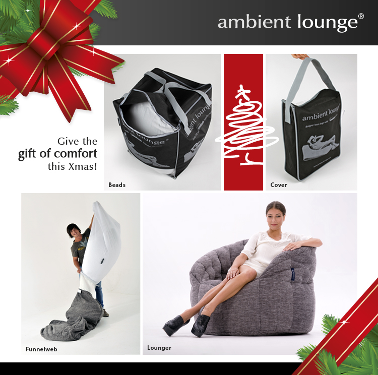 Christmas is comfortable in New Zealand with ambient lounge bean bags