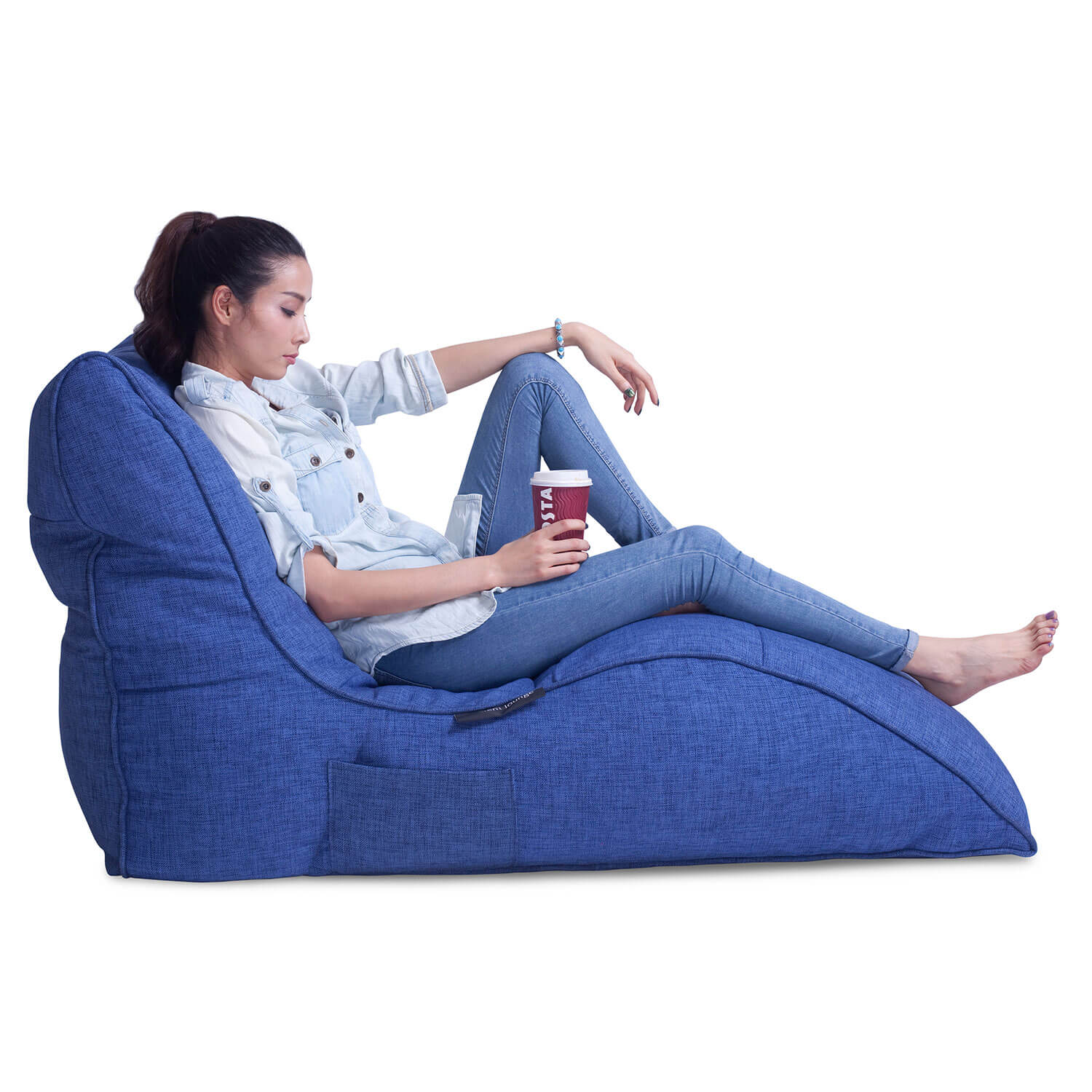 Home Cinema Indoor Bean Bag Avatar Lounger Blue Jazz Bean Bag New Zealand