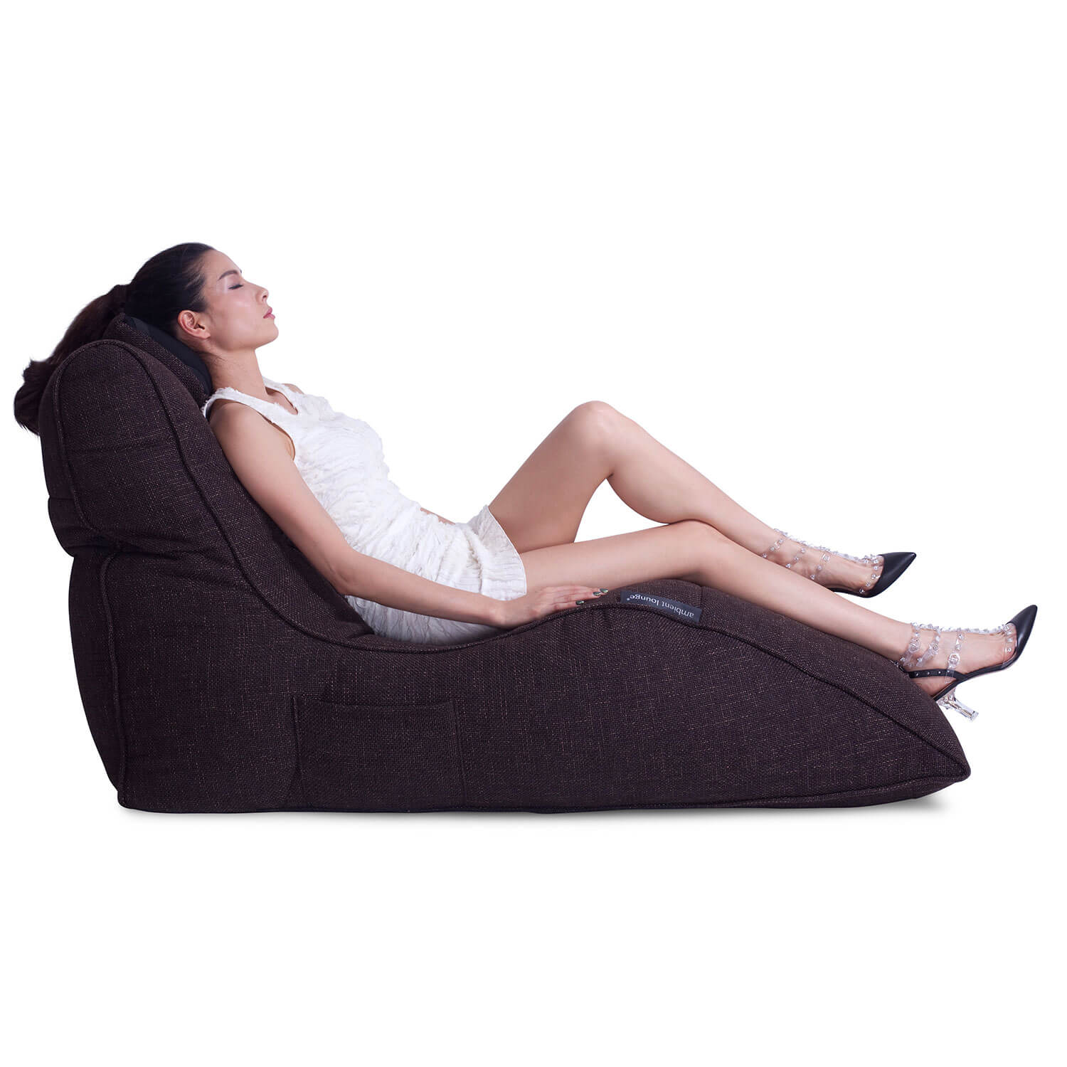 Sexy bean bag chair, naked women with sexy legs and feet