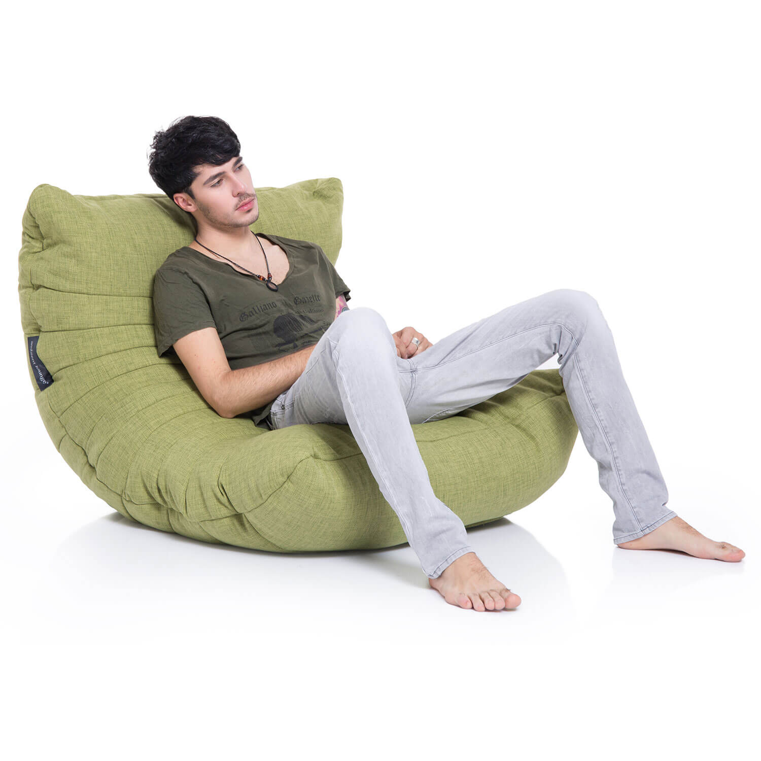 Green Acoustic Bean Bags   Ambient Lounge
