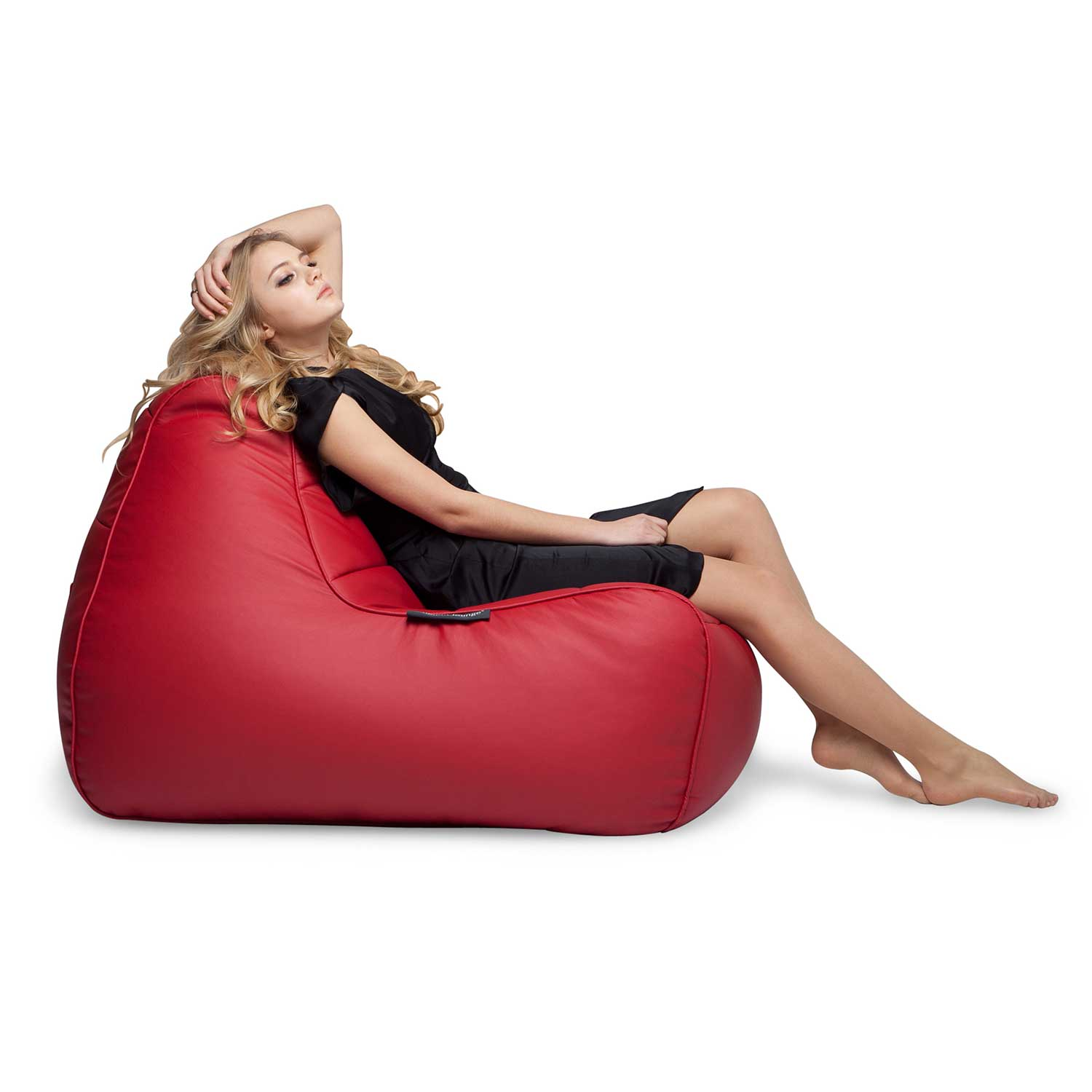 Red Leather Bean Bag Ambient Lounge