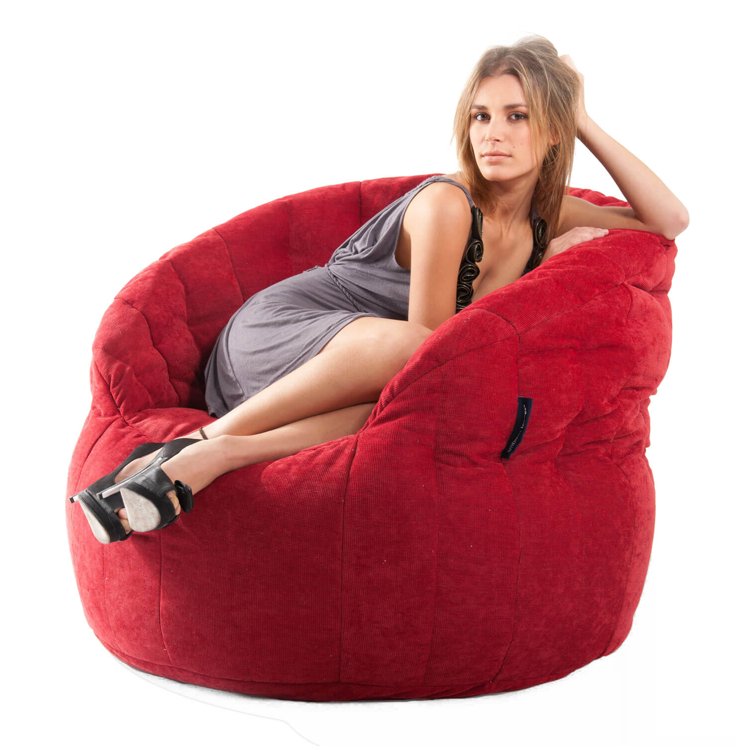 Elegant Red Butterfly Bean Bag