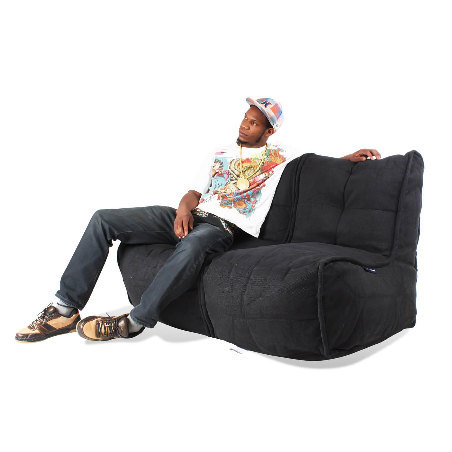 2 Seater Bean Bag Sofa 2 Seater Sofa Designer Bean Bag Couch Double Thesofa