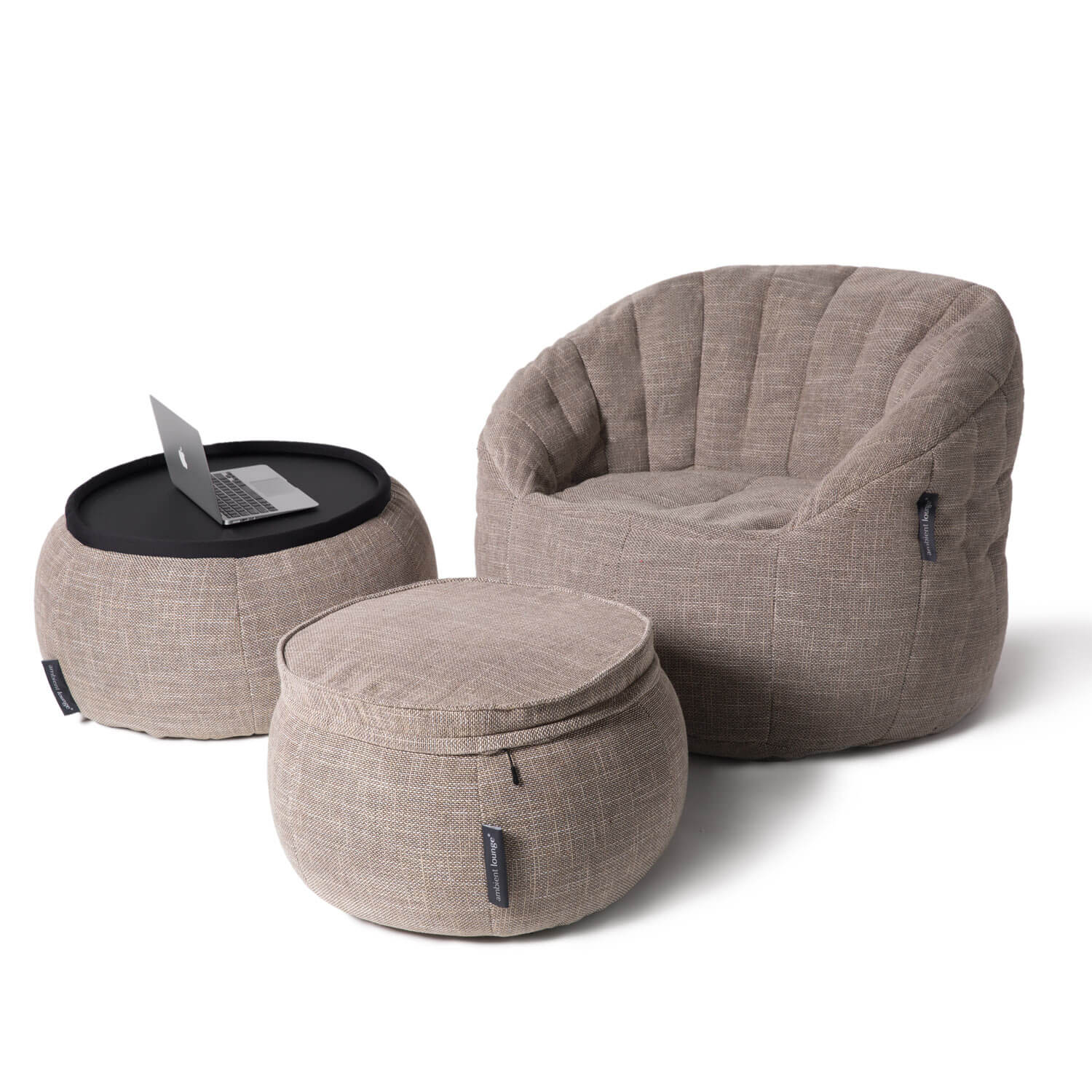 Charmant Beige Bean Bag Coffee Table ...