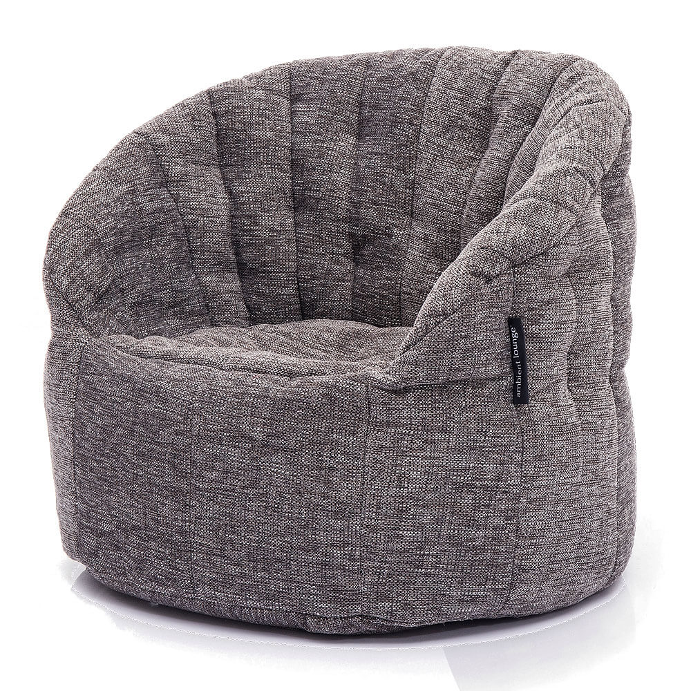 Interior Bean Bags Chair Butterfly Sofa Luscious Grey