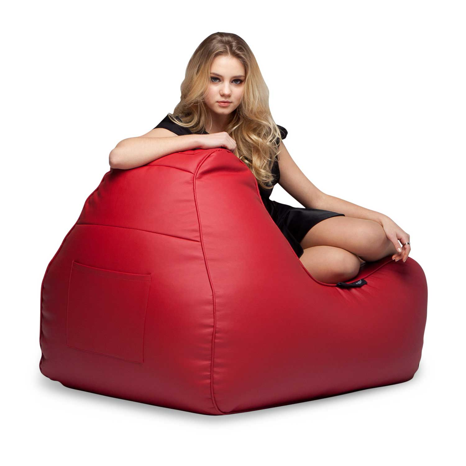 ... Red Leather Bean Bag   Ambient Lounge ...