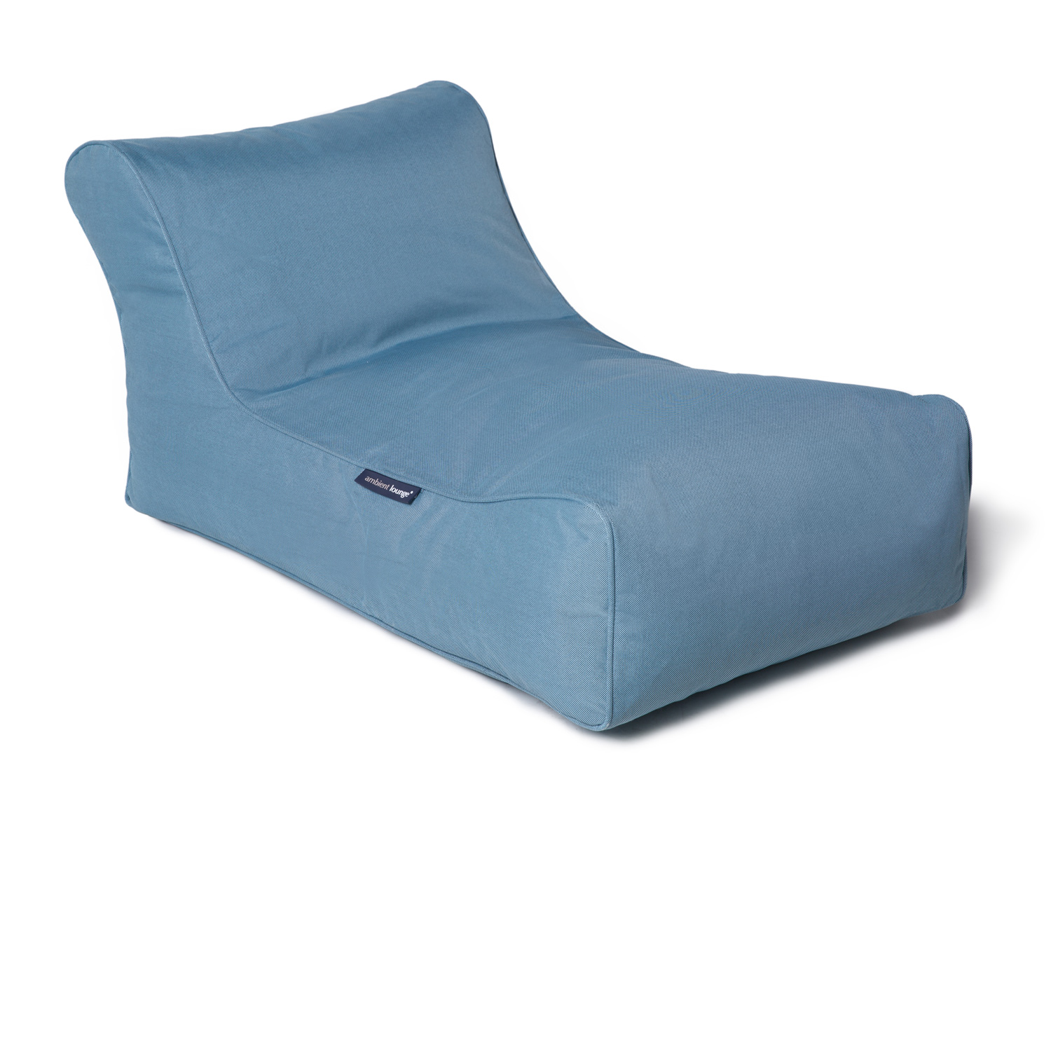 Outdoor bean bags studio lounger blue skye eclipse for Bean bag chaise lounge