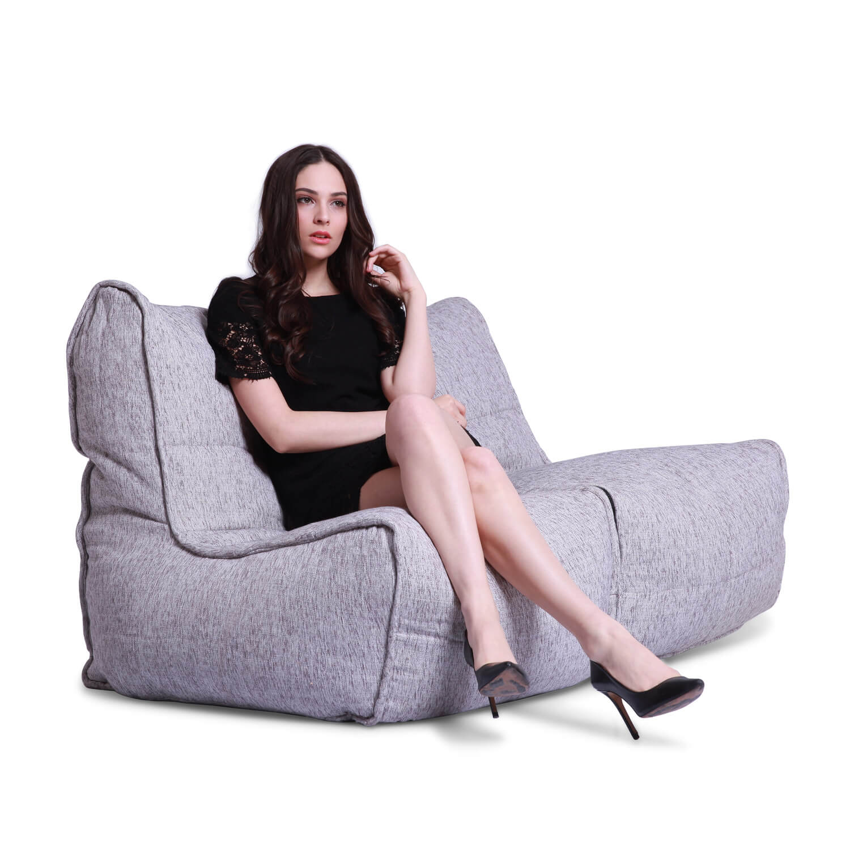 2 Seater Cream Sofa Designer Bean Bag Couch Bean Bag