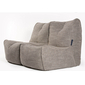 Beige Twin Couch Bean Bag Sofa