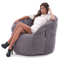 grey butterfly bean bag