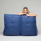 Blue Twin Couch Bean Bag Sofa
