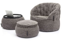 grey designer sofa set bean bag by Ambient Lounge