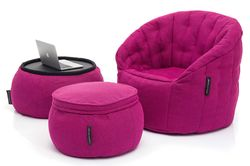 pink designer sofa set bean bag by Ambient Lounge