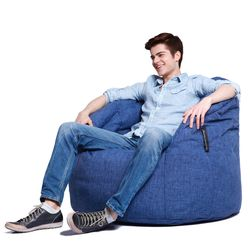 blue butterfly bean bag