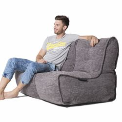 Grey Twin Couch Bean Bag Sofa