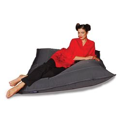 black zen lounger bean bag