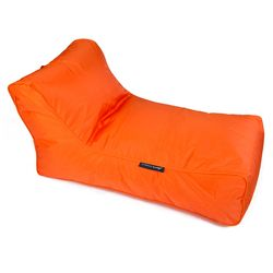 orange studio lounger bean bag