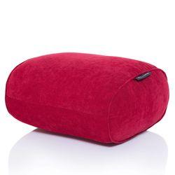 red ottoman bean bag