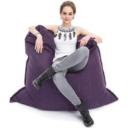 violet flat pillow made of bean bags by Ambient Lounge