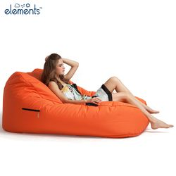 orange satellite twin bean bag