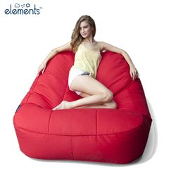 red satellite twin bean bag
