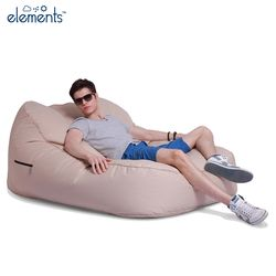 cream satellite twin bean bag