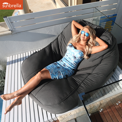 black satellite twin sunbrella fabric bean bag