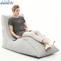 white lounger bean bag chair