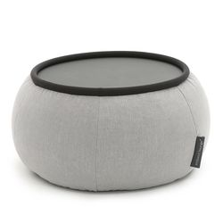 Grey Versa Table made of bean bags