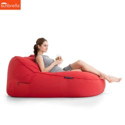 red satellite twin sunbrella fabric bean bag
