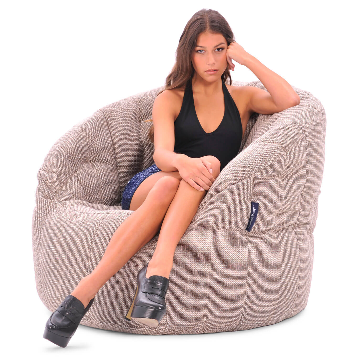 Beige Erfly Bean Bag