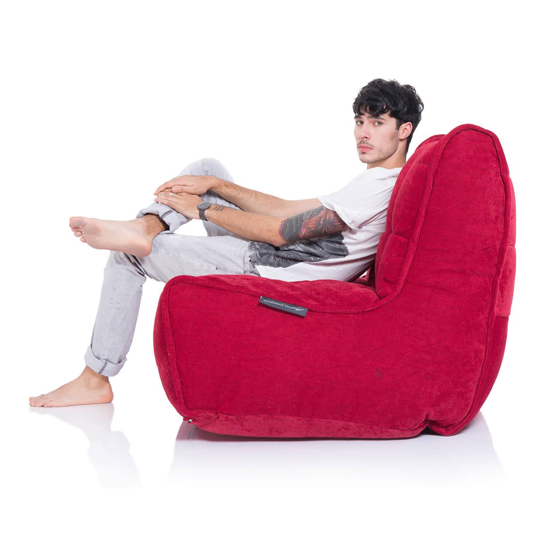 2 Seater Cream Sofa Designer Bean Bag Couch