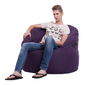 violet butterfly bean bag