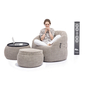beige designer sofa set bean bag by Ambient Lounge