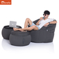 black designer sofa set in Sunbrella fabric bean bag by Ambient Lounge