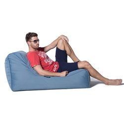 blue studio lounger bean bag