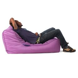 purple studio lounger bean bag
