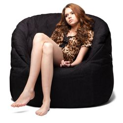 black butterfly bean bag