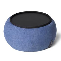 Blue Versa Table made of bean bags