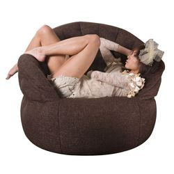 brown butterfly bean bag
