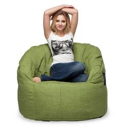 green butterfly bean bag