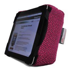 pink iPad Pro protective cushion or travel rest pillow by Ambient Lounge