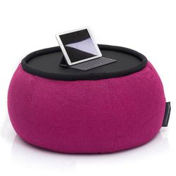 Pink Versa Table made of bean bags