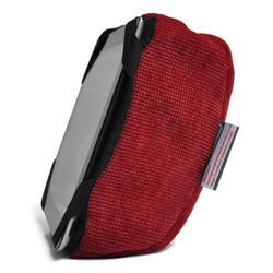 red iPad Pro protective cushion or travel rest pillow by Ambient Lounge