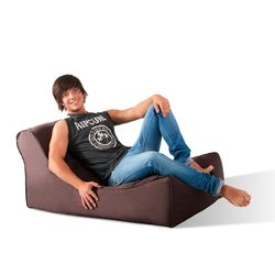 brown studio lounger bean bag