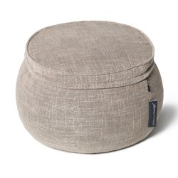 Beige Wing Ottoman  Bean Bags - Ambient Lounge
