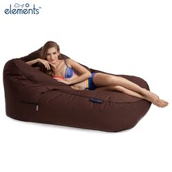 brown satellite twin bean bag