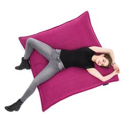 pink flat pillow made of bean bags by Ambient Lounge