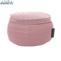 pink bean bag ottoman table