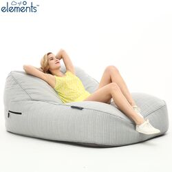 white large bean bag chair